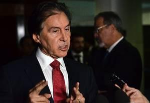 O presidente do Senado, Eunicio de Oliveira (PMDB-CE) Foto: Renato Costa / Agência O Globo