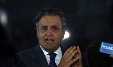 O senador Aécio Neves (PSDB-MG) Foto: Givaldo Barbosa / Agência O Globo 15/08/2017