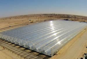 Unidade da empresa GlassPoint em Omã Foto: Divulgação / via Bloomberg