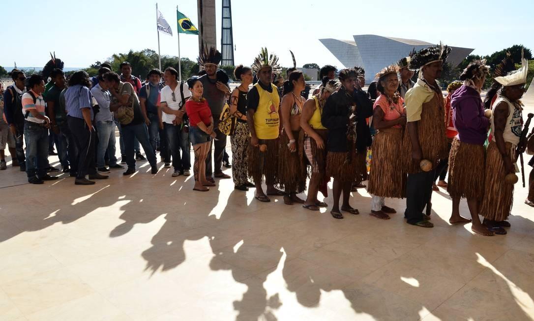A votação se refere ao processo que pede a anulação de títulos de propriedade concedidos a produtores que atuavam dentro de uma terra indígena no Rio Grande do Sul Foto: Renato Costa / O Globo