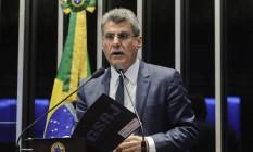 Senador Romero Jucá, presidente do PMDB. 05/07/2017 Foto: Geraldo Magela / Agência O Globo
