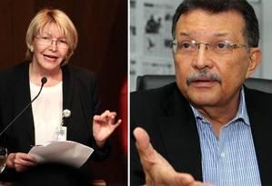Luisa Ortega e Germán Ferrer: casal dissidente é expurgado do chavismo Foto: Montagem