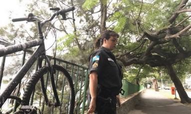 Flavia Louzada, que ajudou a instalar placas lamenta retirada Foto: Divulgação/Rio de Paz