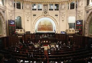 Sessão na Assembleia Legislativa do Rio (Alerj) Foto: Gustavo Miranda / Agência O Globo