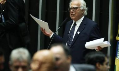 Eleição para a presidência da Câmara dos Deputados. Na foto, o candidato, deputado Miro Teixeira.13/07/2016 Foto: Jorge William / Agência O Globo