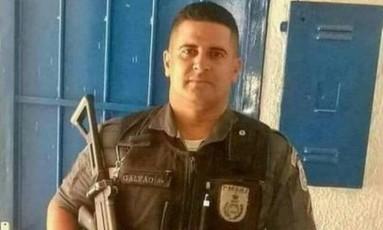 O soldado Michel de Lima Galvão, de 32 anos, morreu durante patrulhamento no Jacarezinho Foto: Reprodução