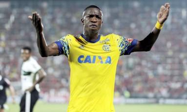 Vinicius Junior participou do jogo por apenas oito minutos Foto: Lucas Tavares/Agência O Globo