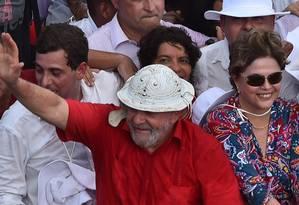 Lula e Dilma durante