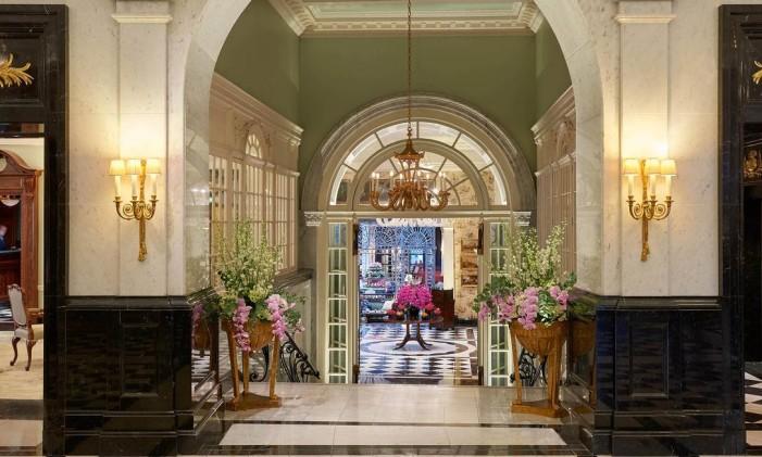 Lobby do The Savoy, Londres Foto: Divulgação
