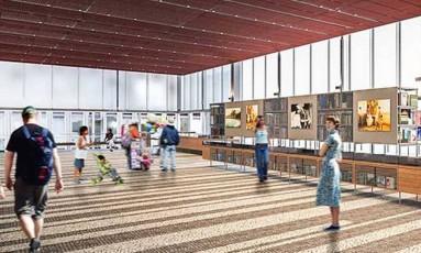 Novo prédio. O Instituto Moreira Salles na Paulista: projeto dá prioridade ao reaproveitamento de energia e à luz natural Foto: Perspectiva/Divulgação