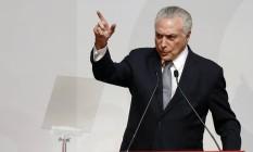 O presidente da República, Michel Temer Foto: Agência O Globo