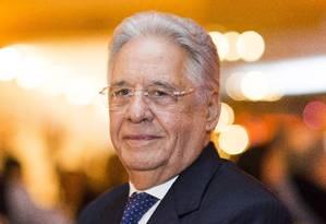 O ex-presidente Fernando Henrique Cardoso defendeu que candidato do PSDB à Presidência 'fale com o Brasil' Foto: Edilson Dantas/02-05-2017 / Agência O Globo