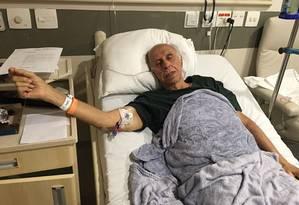O ex-médico Roger Abdelmassih, condenado a 181 anos de prisão, durante tratamento no hospital Albert Einstein, em São Paulo. Foto divulgada pela defesa de Abdelmassih Foto: Arquivo pessoal / Reprodução