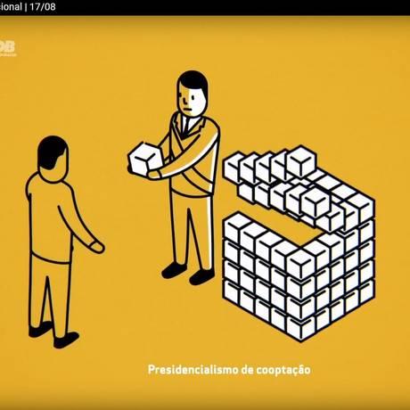 Trecho do programa televisivo do PSDB Foto: Reprodução