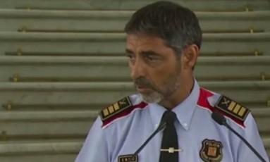 Josep Lluis Trapero, chefe da polícia catalã Foto: Reprodução