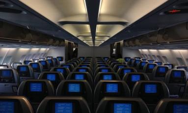 Assentos de aviões ficam cada vez menores Foto: Pixabay