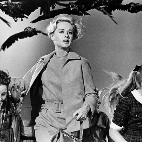 Cena do clássico 'Os pássaros', de Alfred Hitchcock Foto: Divulgação/AMPAS