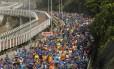 20ª Meia Maratona do Rio de Janeiro, com largada em São Conrado, em outubro de 2016 Foto: Gabriel de Paiva / Agência O Globo