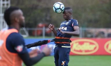 Vinícius Júnior no treino do Flamengo na quinta-feira Foto: Gilvan de Souza