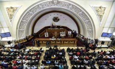 Plenário da Assembleia Nacional Constituinte da Venezuela Foto: JUAN BARRETO / AFP