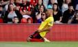 Richarlison celebra primeiro gol pelo Watford, em partida válida pelo Campeonato Inglês
