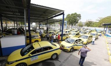 Detran Presente promoveu uma edição especial para taxistas Foto: Pablo Jacob / Agência O Globo