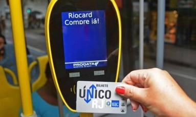 Bilhete Único: descontos apenas para quem informar renda mensal de até R$ 3 mil Foto: Henrique Freire / Agência O Globo