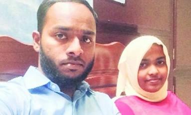 Akhila Ashokan e o marido Shafin Jahan Foto: Reprodução