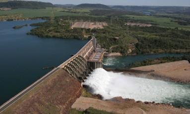 Usina hidrelétrica Jaguara, da Cemig. Foto: Divulgação