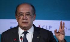 O ministro Gilmar Mendes participou de debate sobre reforma política em São Pauo Foto: Edilson Dantas / Agência O Globo