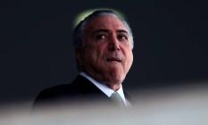 Presidente Michel Temer participa da cerimônia oficial de chegada do Presidente doParaguai, Horacio Cartes. Foto: Jorge William / Agência O Globo