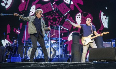 Roger Daltrey (à esquerda) e Pete Townshend, os remanescentes do Who, em show em agosto, em San Francisco Foto: Amy Harris / Amy Harris/Invision/AP