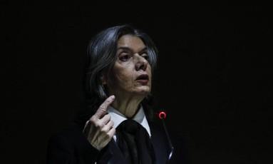 A presidente do Supremo Tribunal Federal, ministra Cármen Lúcia Foto: ANDRE COELHO / Agência O Globo