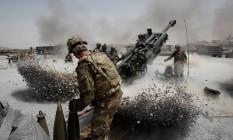 Soldados americanos na província de Kandahar, no Afeganistão Foto: Baz Ratner / Reuters/12-06-2012