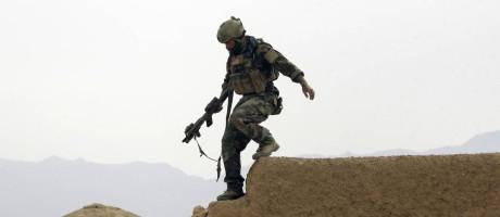 Soldado americano em operação especial junto ao Exército Nacional Afegão em Shewan, antigo bastião talibã, na província de Farwah Foto: Maya Alleruzzo / AP