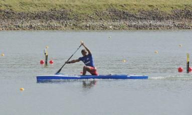 Isaquias Queiroz treinando em Racice para o Mundial de Canoagem Foto: Divulgação Canoagem Brasileira