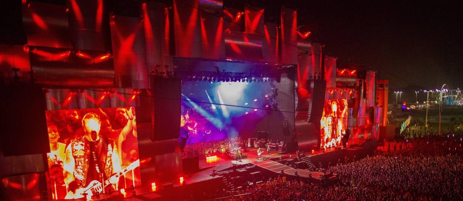 Show do Metallica no Rock in Rio, em 2015 Foto: Daniel Marenco/Agência O Globo