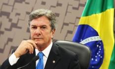 Senador Fernando Collor (PTC-AL) presidindo a comissão do Senado Federal Foto: Ailton de Freitas / Agência O Globo