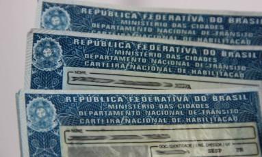 Documentos de habilitação de motoristas Foto: Detran/Divulgação