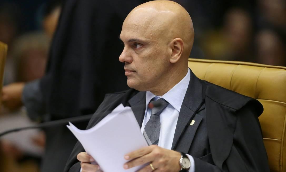 O ministro Alexandre de Moraes, do Supremo Tribunal Federal Foto: Jorge William / Agência O Globo / 17-8-17