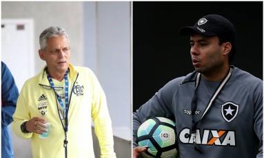 Rueda e Jair Ventura comandam Flamengo e Botafogo nesta quarta-feira Foto: Divulgação