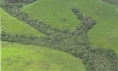 Vista aérea da Amazônia Foto: Marcelo Sayão / Agência O Globo/07-02-1998