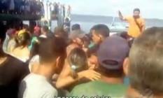 Navio naufraga no Pará e deixa vítimas Foto: Reprodução/TV Globo
