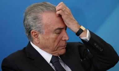 O presidente Michel Temer Foto: Adriano Machado / Reuters / 23-8-17