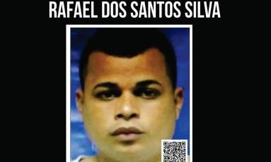 Recompensa é oferecida por informações sobre paradeiro do suspeito Foto: Divulgação/Disque_denunica