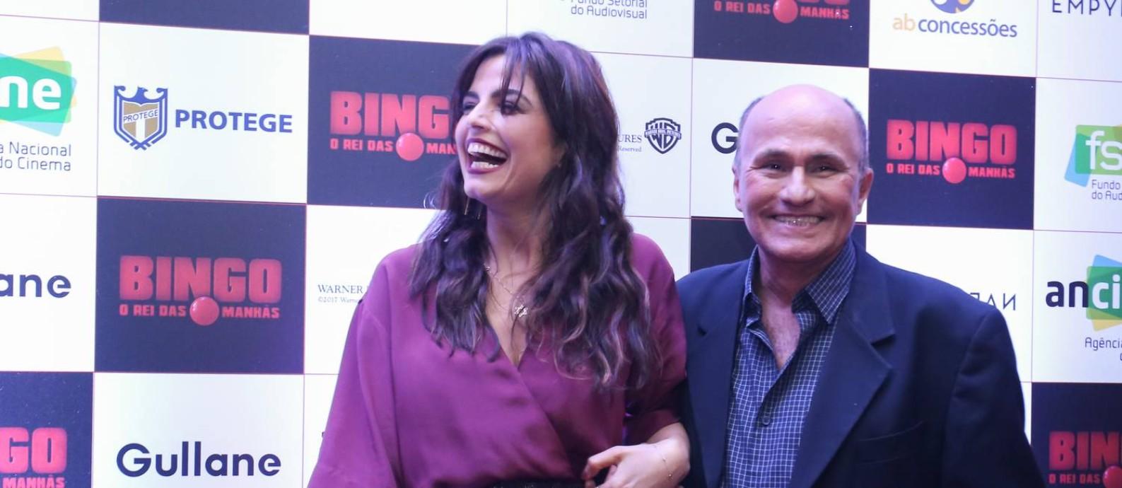 Emanuelle Araújo e Arlindo Barreto na pré-estreia de 'Bingo – O rei das manhãs' Foto: Rogerio Resende / R2Foto