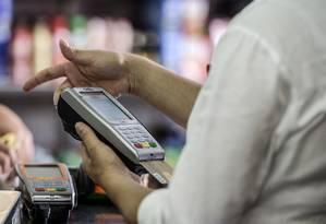 Compras no cartão de crédito Foto: Bloomberg News