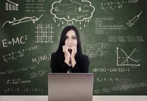 Muitos estudantes não conseguem pensar no tema Exatas sem medo ou ojeriza Foto: Fotolia