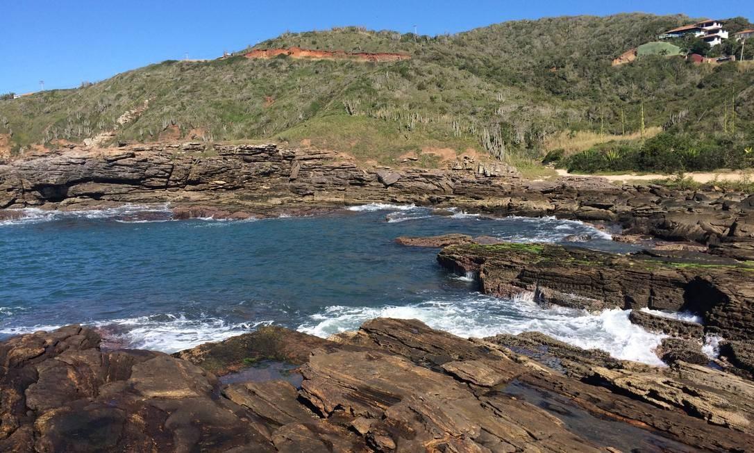 A Praia da Foca tem muitas piscinas naturais Foto: Luciane Costa / Luciane Costa