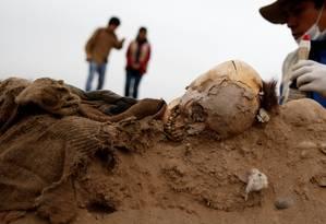 Foram descobertos 16 corpos de imigrantes chineses no Peru Foto: MARIANA BAZO / REUTERS